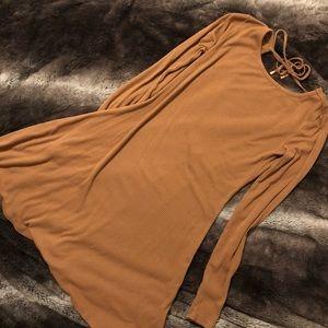 brown float dress